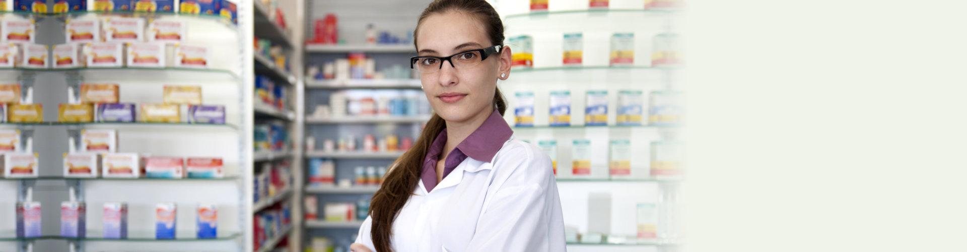 female pharmacist at pharmacy